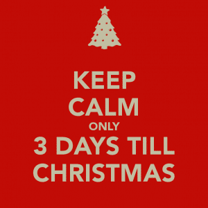 3 days till xmas